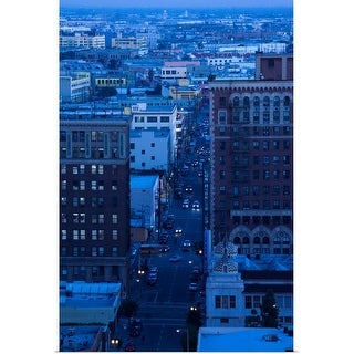 """Cityscape at dusk, Los Angeles, California"" Poster Print"