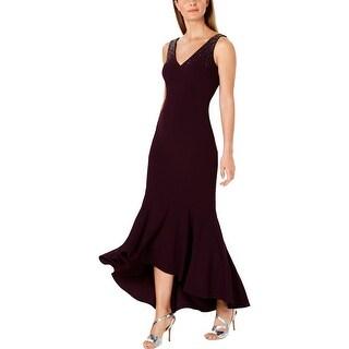 Link to Calvin Klein Womens Formal Dress V-Neck Hi-Low Similar Items in Dresses