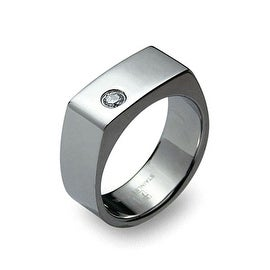 Stainless Steel Ring with CZ (Sizes 8-13)