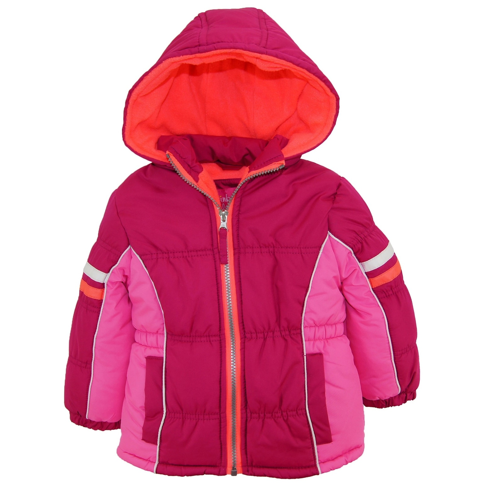 reasonably priced various design hot sale Pink Platinum Toddler Girl Colorblock Active Winter Coat Puffer Jacket