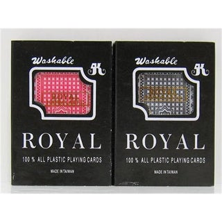 JPCommerce ROYAL Pair of Royal Plastic Playing Cards