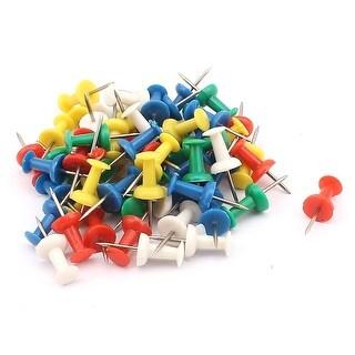 70 Pcs Home/Office Metal Board Map Push Pins Thumbtacks w Plastic Head Assorted Color