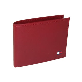 Tommy Hilfiger Men's Leather Bold Passcase Billfold Wallet - One size (Option: Red)