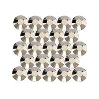 Swarovski Crystal, Round Flatback Rhinestone Hotfix SS20 4.6mm, 50 Pieces, Metallic Light Gold
