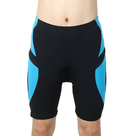 REALTOO Authorized Bicycle Underwear Cycling Shorts Pants Black Blue L (W 38)