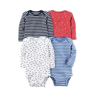 Carter's Baby Boys' Multi-Pack Bodysuits, Shark, 12 Months