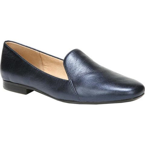 Naturalizer Women's Emiline Loafer Inky Navy Metallic Leather