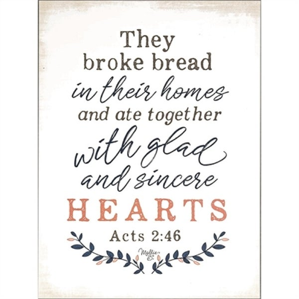 """16"""" Ivory White and Black Contemporary Bible Verse Printed Rectangular Plaque - N/A"""