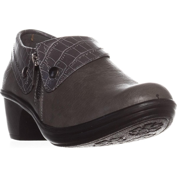 Easy Street Darcy Comfort Ankle Boots, Grey/Grey Croco