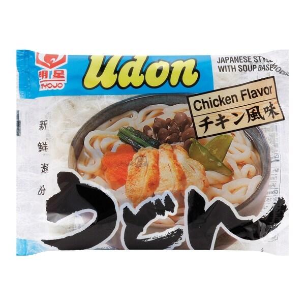 Myojo Japanese Style Udon Noodles - Chicken - Case of 30 - 7.22 oz.