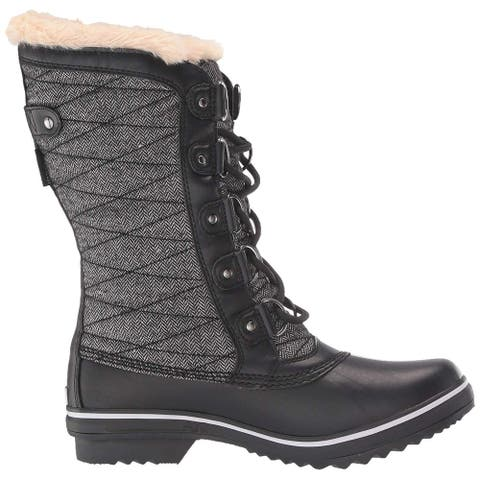 JBU Women's Shoes Lorna Almond Toe Mid-Calf Cold Weather Boots