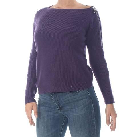 BAR III Purple Long Sleeve Sweater S