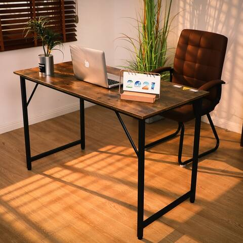 TiramisuBest Industrial Style Computer Desk Home Office Writing Desk
