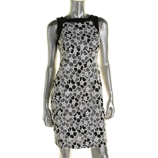 Maggy London Womens Knee-Length Floral Wear to Work Dress - 8