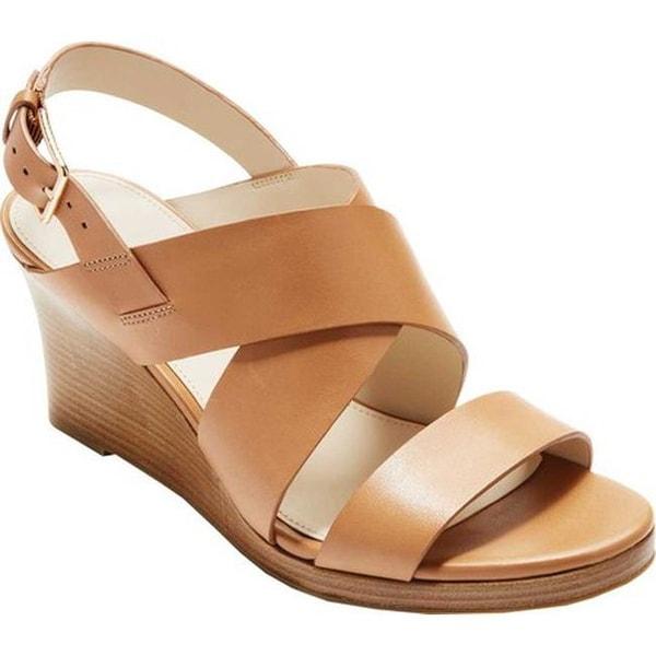 b2253cd03ed Shop Cole Haan Women s Penelope Wedge II Sandal Pecan Leather - Free ...