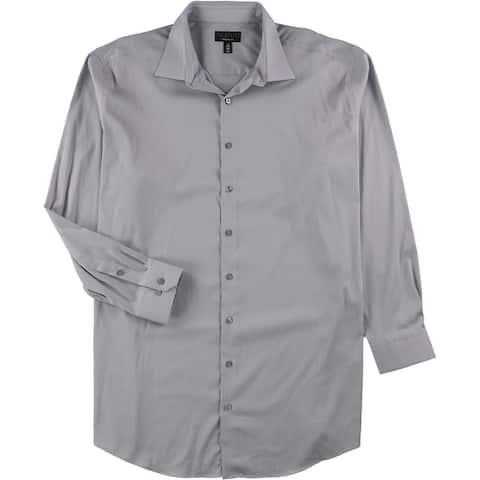 Alfani Mens Bedford Cord Button Up Dress Shirt