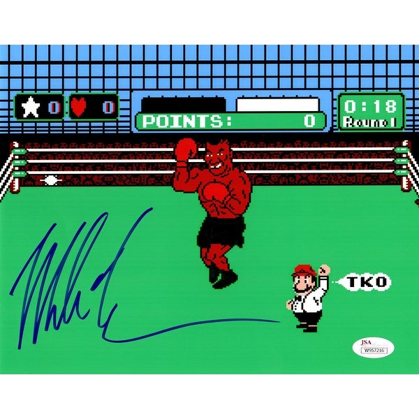 Mike Tyson Nintendo Mike Tysons Punch Out 8x10 Photo