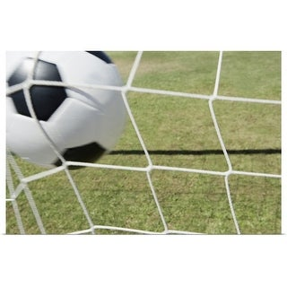 """""""Soccer ball and goal"""" Poster Print"""