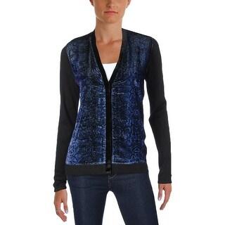 T Tahari Womens Jackson Cardigan Sweater Velvet Snake Print (5 options available)