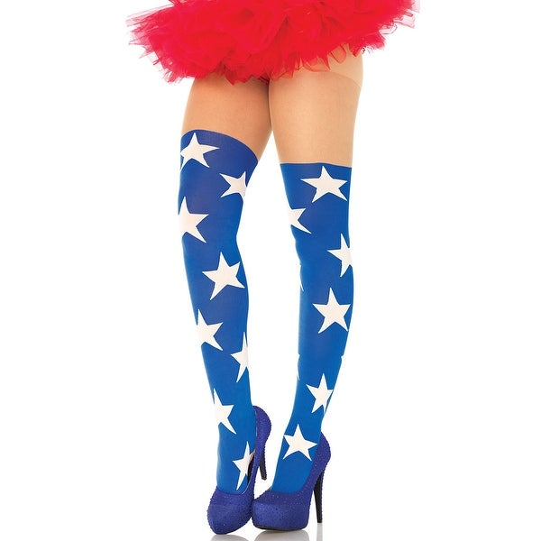 bdb0e7110 Shop Superstar Illusion Tights - Blue White - One Size Fits Most - Free  Shipping On Orders Over  45 - Overstock - 18282710