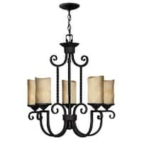 Hinkley Lighting H4015 Casa 5 Light 1 Tier Candle Style Pillar Candle Chandelier