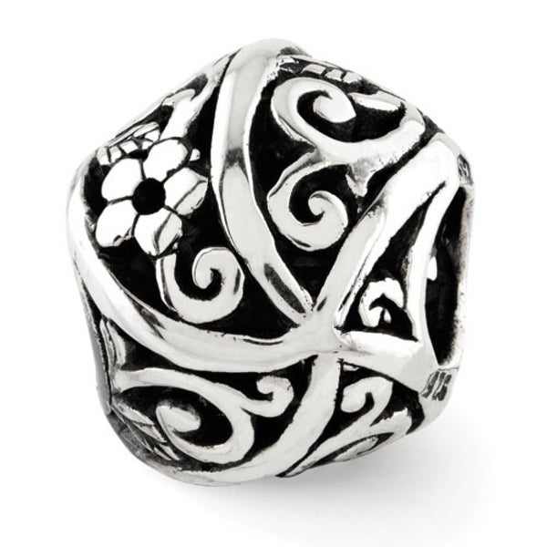 Sterling Silver Reflections Flowers & Vines Bali Bead (4mm Diameter Hole)