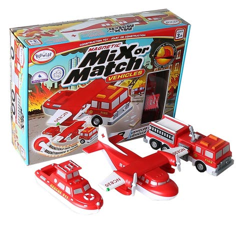 Magnetic Vehicles Fire & Rescue Mix Or Match