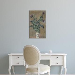 Easy Art Prints Claude Monet's 'Violet poppies' Premium Canvas Art