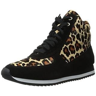 Bella Vita Womens Enice Calf Hair Leopard Print Fashion Sneakers