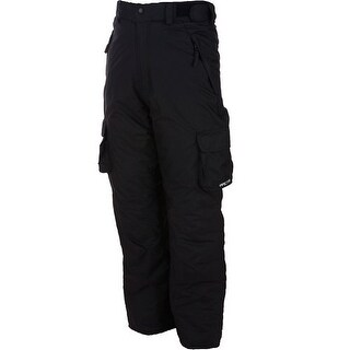 Arctix Women's Lumi Pull Over Fleece Lined Cargo Snow Pants - Black - Small