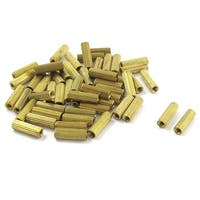 50 Pcs M2 Female Thread Cylindrical Brass Stand-off Support M2x10mm