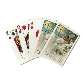 Halloween Fairies & Sleeping Woman Vintage Artwork (Poker Playing Cards Deck)