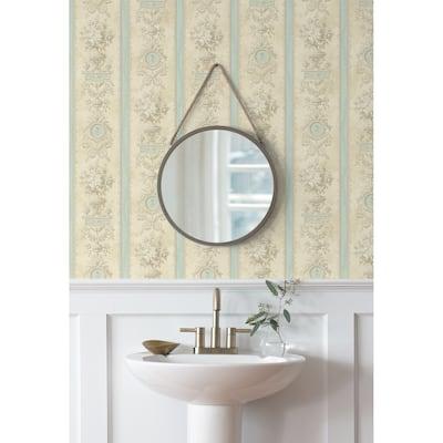 Seabrook Designs Scarborough Stripe Unpasted Wallpaper