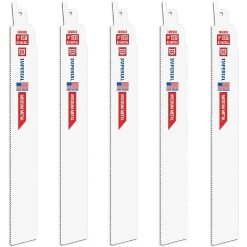 "Imperial Blades IBM918-5 Extreme Metal Reciprocating Saw Blades, 9"""