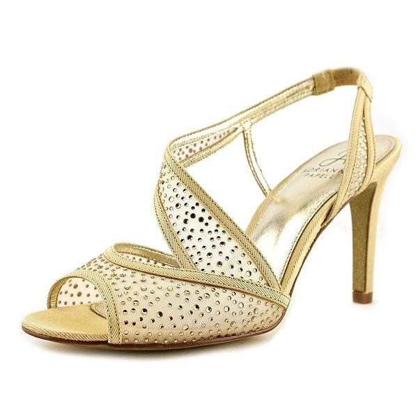 Adrianna Papell Andie Women Open Toe Synthetic Gold Sandals