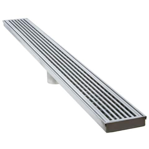 "LUXE Linear Drains 30WW 30"" Wedgewire Linear Shower Drain -"