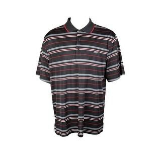 Greg Norman Black Multi-Stripe Polo Shirt S