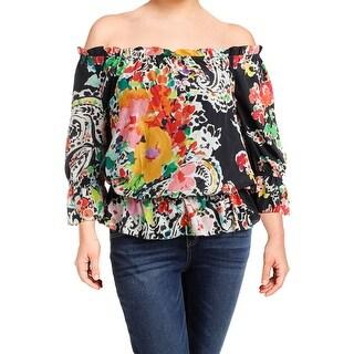 Lauren Ralph Lauren Womens Ordisty Blouse Sheer Printed