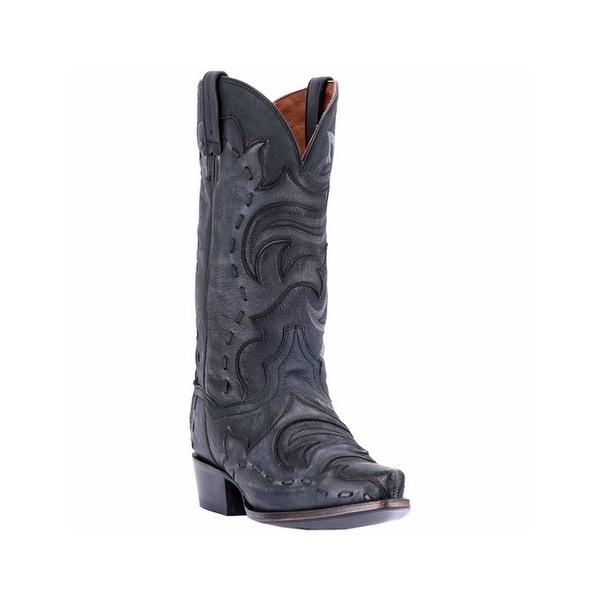 Dan Post Western Boots Mens Hensley Snip Toe Leather Black Gray