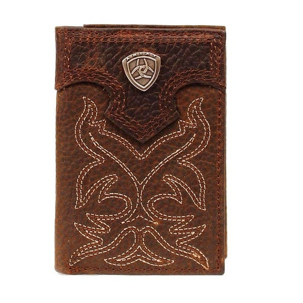 Ariat Western Wallet Mens Trifold Shield Logo ID Widow - One size
