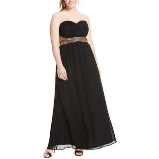 City Chic Womens Plus Semi-Formal Dress Chiffon Strapless