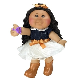 "Cabbage Patch Kids 14"" Doll: African American, Brown Eyes (Trendy)"