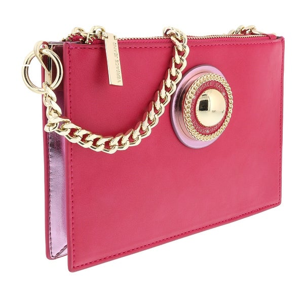 0483078b Shop Versace Fuschia Crossbody/Clutch Bag-EE1VTBBU2 E401 - Free ...