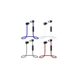 Wireless Rechargeable Stereo Bluetooth Earbuds with In - Line