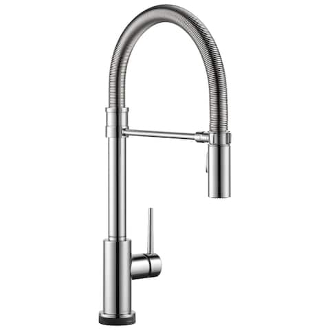 Delta Trinsic Single Handle Pull-Down Spring Spout Kitchen Faucet with Touch2O Technology
