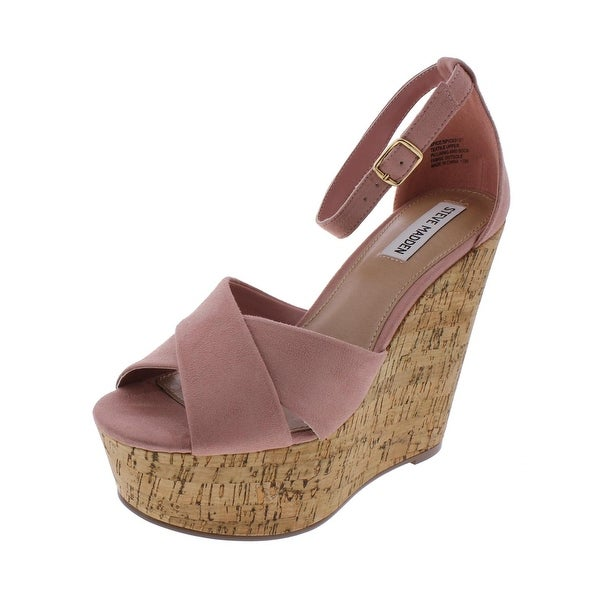 Steve Madden Womens Spice Wedge Sandals Crisscross Platform