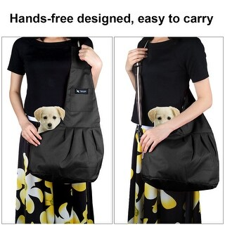 Oxford Cloth Pet Carrier Bag Hands-free Outdoor Tote for Small Dog Cat