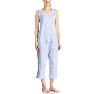 Body Touch Women's Blue Tank Top & Capri Pajama Set (3 options available)