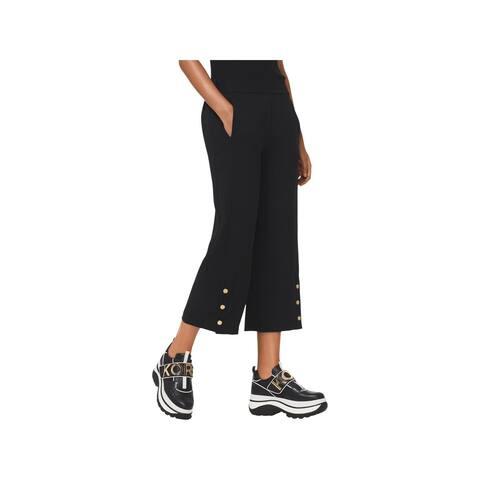 MICHAEL Michael Kors Womens Trouser Pants Snap Leg Wide Leg