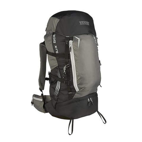 Wenzel Flux 50L Hiking Backpack Black / Gray - 27 X 11 X 10 inches